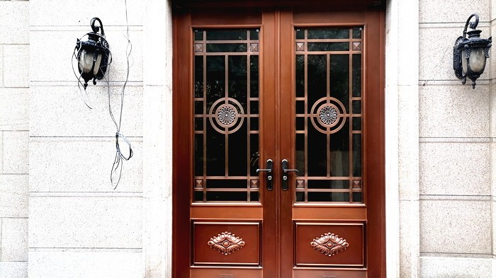 铜辉门窗 别墅入户门落地远洋天著小区