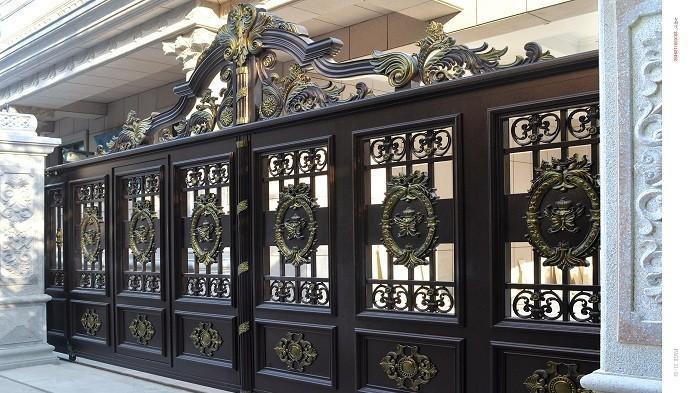 浅谈北京铜辉门窗铝艺庭院门特征有哪些?