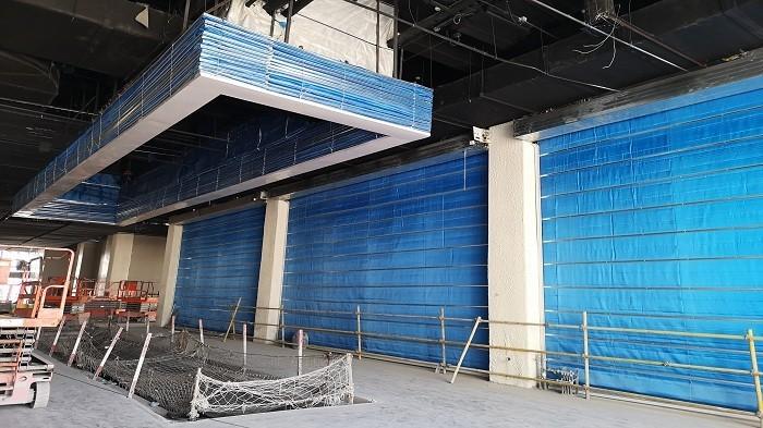 铜辉门窗|世界园艺博览会无机布防火卷帘门安装