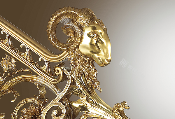 铜楼梯扶手