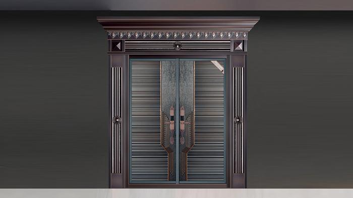 别墅入户铸铝门