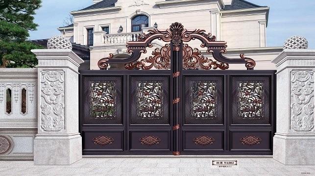铜辉门窗别墅庭院门,越看越喜欢